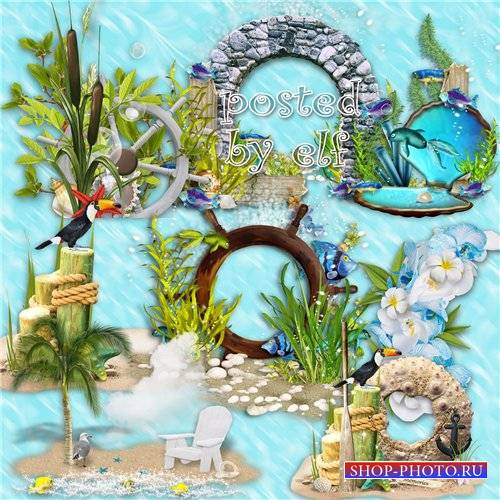 Подборка морского клипарта – Море о чём-то несбыточном пело