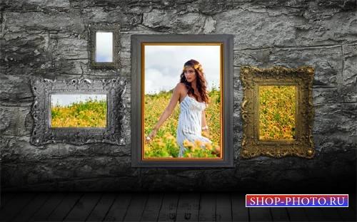 Рамка к фото - Из четырех рамок