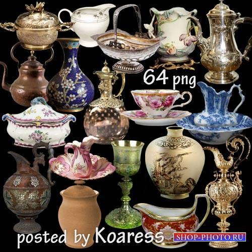 Вазы, кувшины, чашки, кубки, чайники и другая старинная и винтажная посуда  ...
