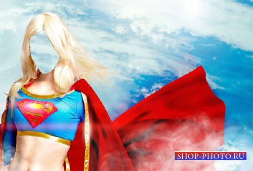 Шаблон для Photoshop - Superwoman