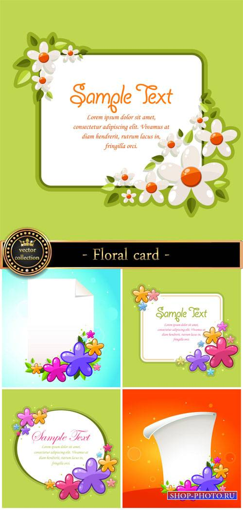 Floral card with flowers