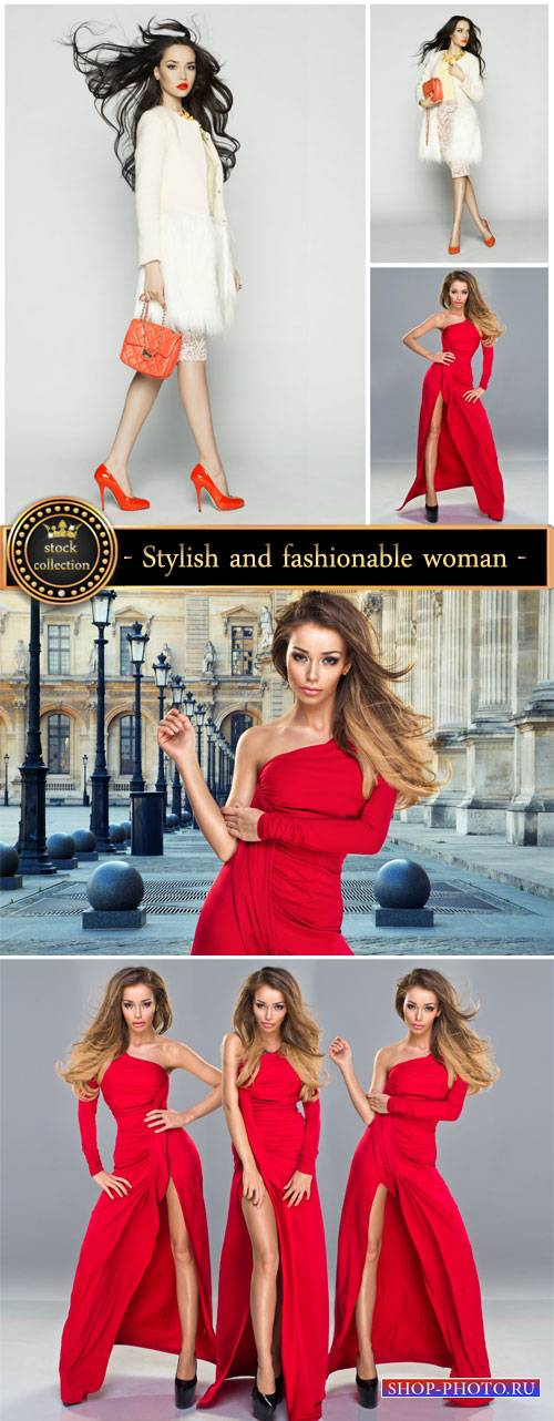 Stylish and fashionable woman - Stock Photo