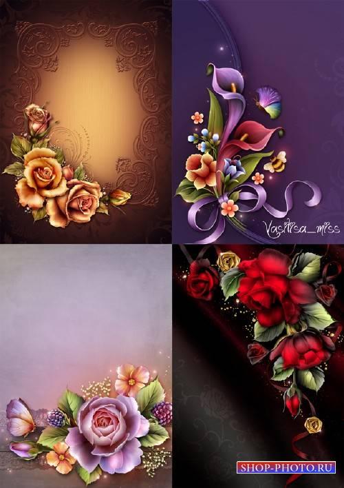 Яркие цветочные фоны