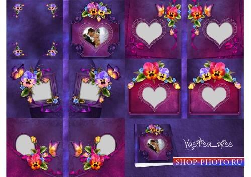 Цветочная фотокнига 25x25 - Летнее настроение