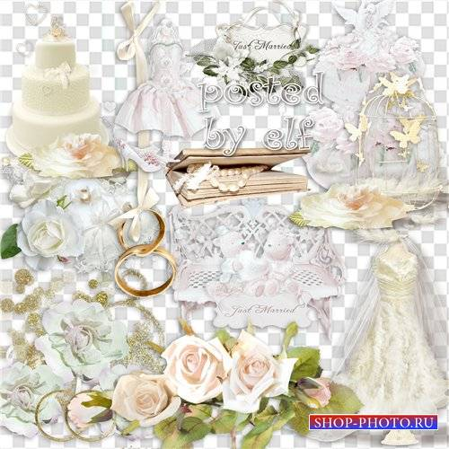 Свадебный клипарт - Две судьбы в одну слились