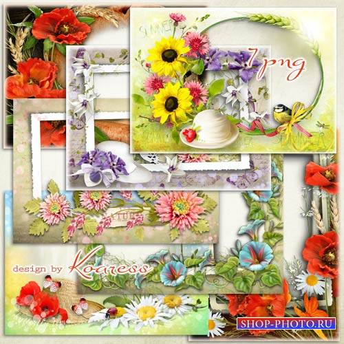 Фоторамки - Летние цветы