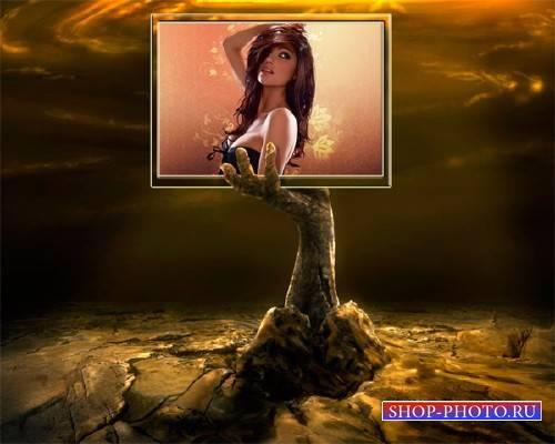 Рамка для фотошоп - Рука из земли