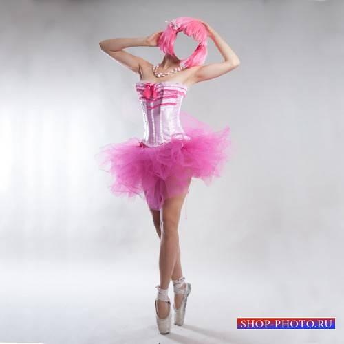 PSD шаблон для девушек - Балерина