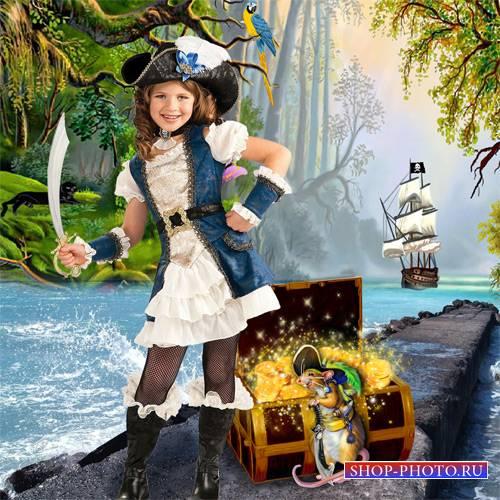 Шаблон  детский -  В флибустьерском дальнем море