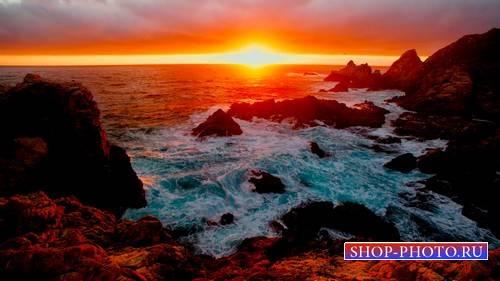 Футаж - Морской закат