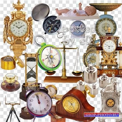 Клипарт - Часы, весы, компасы