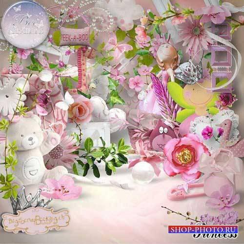 Детский скрап-набор для девочек - Принцесса