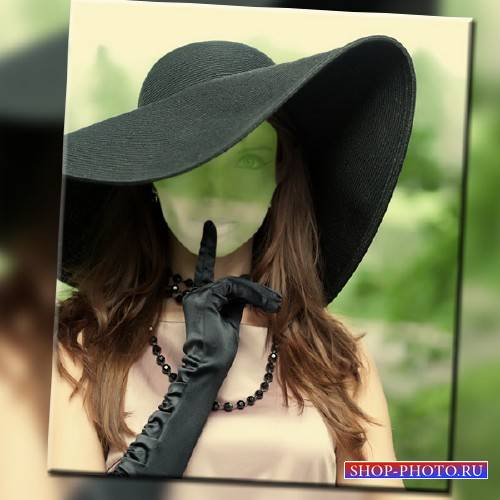 Шаблон для Photoshop - Девушка в шляпе