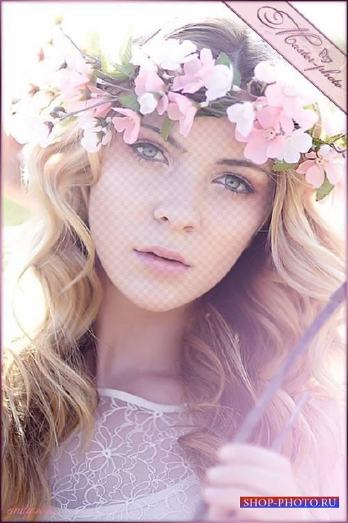 Женский шаблон для photoshop - Яблоневый цвет