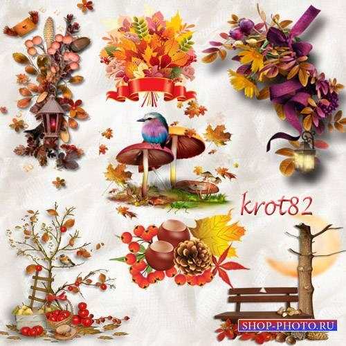 Осенний клипарт для фотошопа – Осенние кластеры