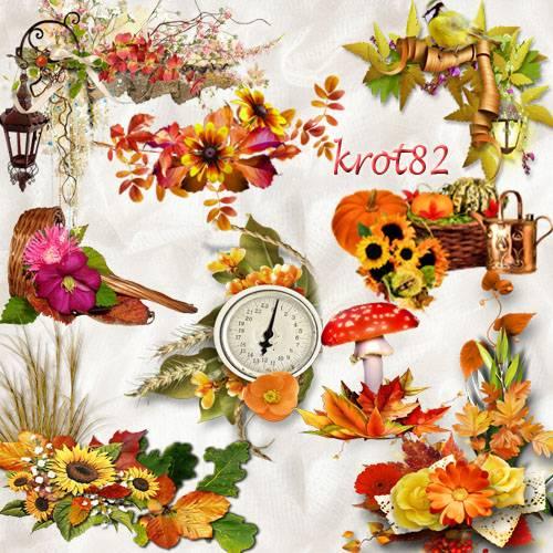 Набор осенних кластеров для фотошопа – Яркая осень