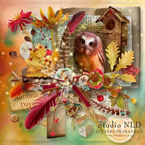 Осенний скрап-комплект - Осенние деньки