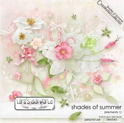 Цветочный скрап-комплект - Оттенки лета