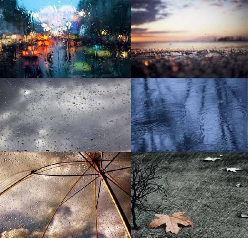 Клипарт для фотошопа - Дождь