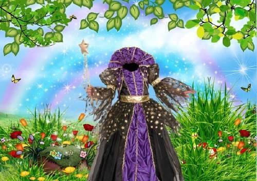 Шаблон для фотошопа - Платье маленькой принцессы