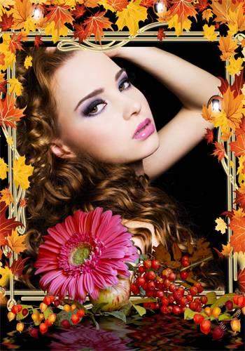 Рамка женская – Осеннее настроение