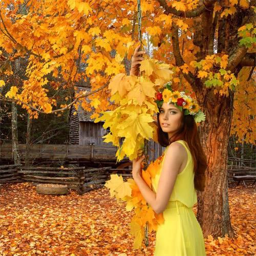 Шаблон  женский – Деревенский дворик