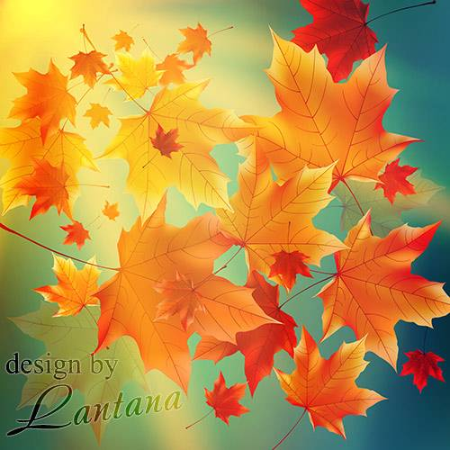 PSD исходник - Кружатся листья осенние