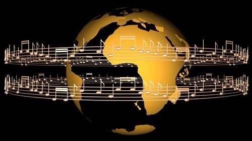 Футаж - Музыкальная планета