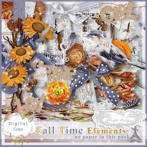 Осенний скрап-комплект - Осеннее время
