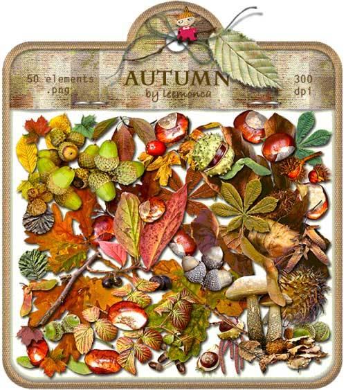 Осенний скрап-набор - Осень