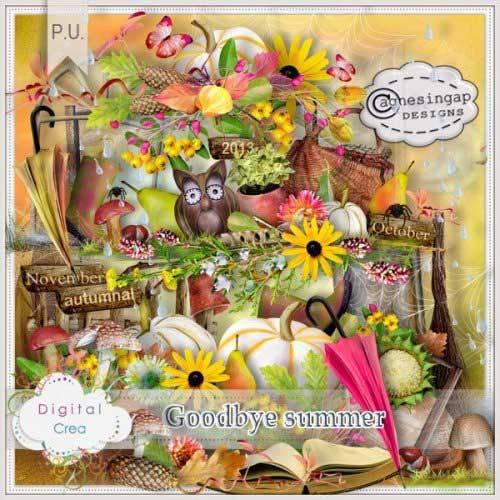 Осенний скрап-набор - Досвидания лето