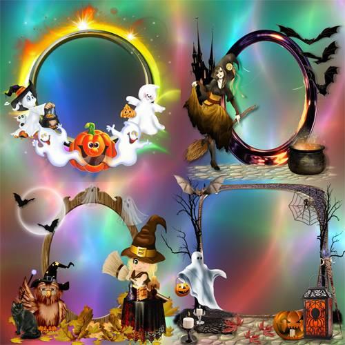 Рамки – кластеры – Ночь Хеллоуина