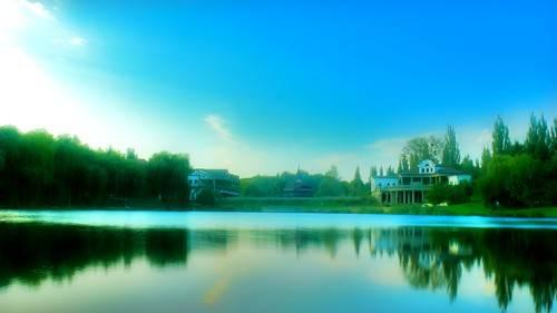 Футаж - Красочное озеро
