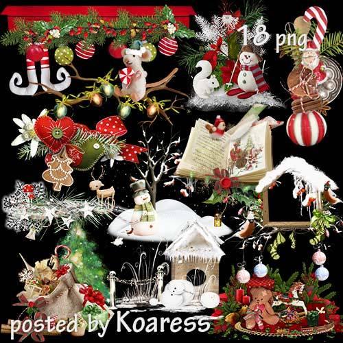 Клипарт png на прозрачном фоне для дизайна - Детские новогодние и рождестве ...