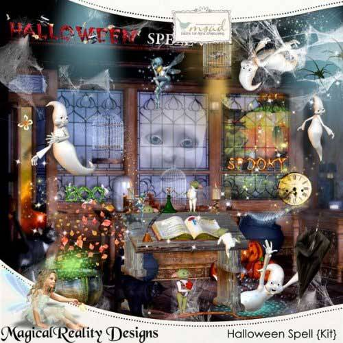 Детский скрап-комплект - Чары Хэллоуина