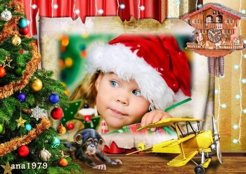 Рамка для фотошопа – За подарками
