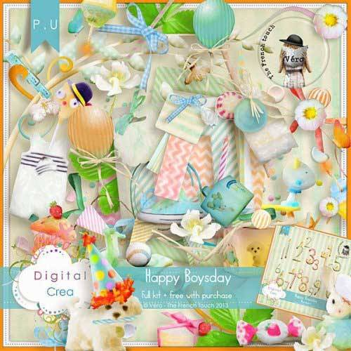 Детский скрап-комплект - Happy Boysday