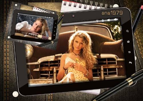Рамка для фотошопа – Фото на планшете