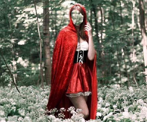 PSD шаблон для девушек - Красная шапочка