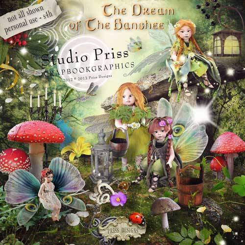 Детский сказочный скрап-набор - The Dream of The Banshee