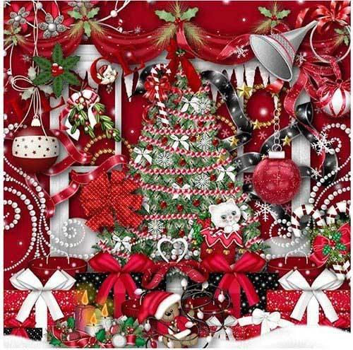 Новогодний скрап-набор - Christmas Pixi