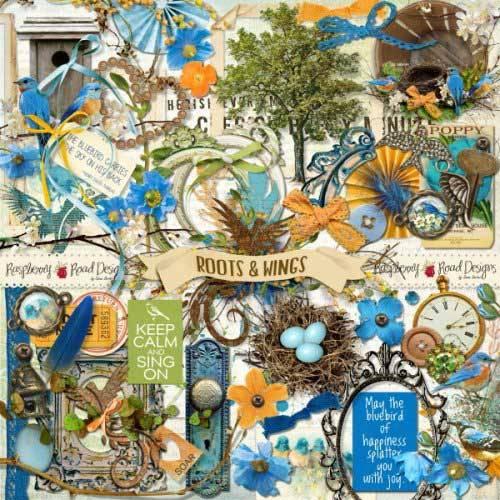 Весенний скрап-набор - Roots & Wings