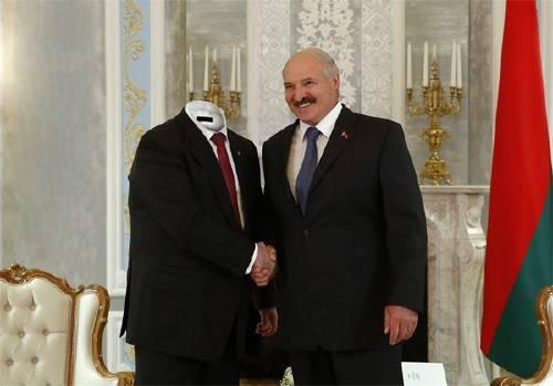 Шаблон для мужчин - С Лукашенко на встрече