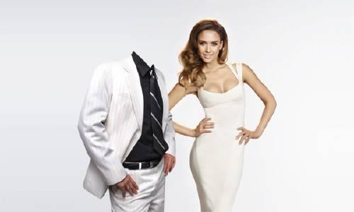 Шаблон для мужчин - В белом с девушкой