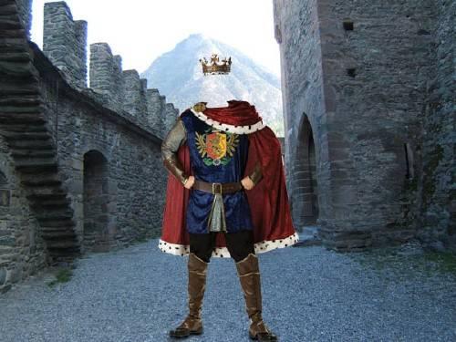 Шаблон мужской - Король в королевстве