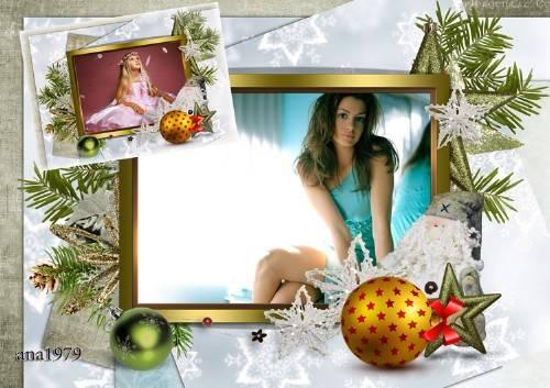 Рамка для фотошопа - В этом Новом году будет счастье
