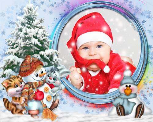 Рамка детская – Очень скользкий лёд