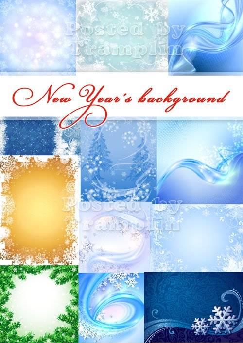 Новогодние фоны – Снежинки, как смешинки