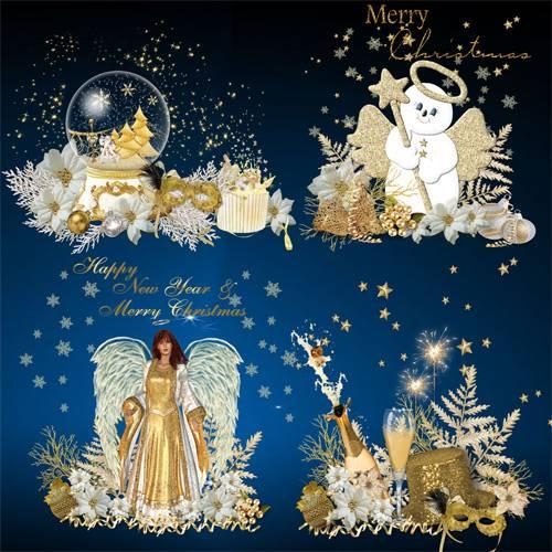 Клипарт – кластеры – Рождественская звезда