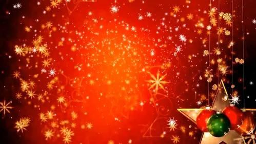Новогодний футаж с  снежинками и елочными шарами